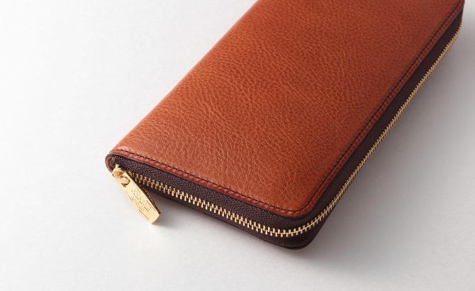 こだわりレザーの「メンズ長財布(ラウンドファスナータイプ)」