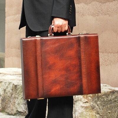 青木鞄 Lugard:Leather Attachecase (レザーアタッシュ):B4対応 ダイヤルロック付 レザーアタッシュケース[5242]