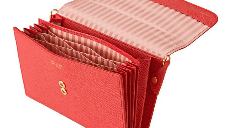 こだわりレザーの「レディースお財布ショルダーバッグ」